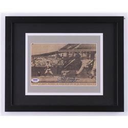 Joe Dimaggio Signed 1941 New York Yankees 12.25x15.25 Custom Framed Newspaper Display (PSA LOA)