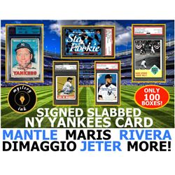 Mystery Ink New York Yankees Signed and Slabbed Card Mystery Pack/Box! 1 Yankees Signed Card In Ever