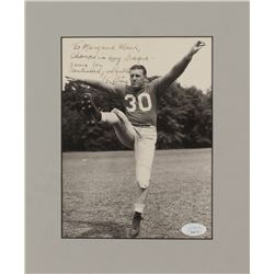 """Ken Strong Signed 9x11 Custom Matted Photo Inscribed """"Champs In Any League - Yours For Continued Goo"""
