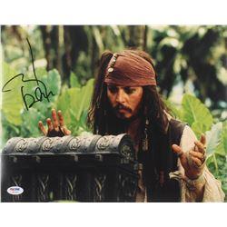 "Johnny Depp Signed ""Pirates of the Caribbean"" 11x14 Photo (PSA LOA)"