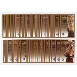 Lot of (100) LE Bronze Bust Football Hall of Fame Postcards