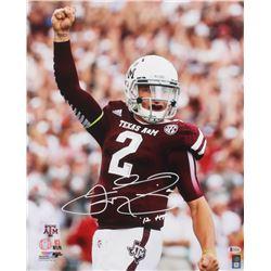 "Johnny Manziel Signed Texas AM Aggies 16x20 Photo Inscribed ""'12HT"" (Beckett COA)"