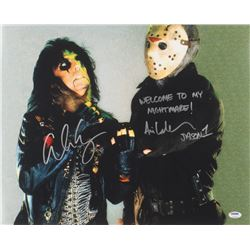 """Ari Lehman  Alice Cooper Signed """"Friday the 13th"""" 16x20 Photo Inscribed """"Welcome To My Nightmare!"""""""
