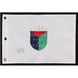 "Bubba Watson Signed ""World Golf Hall of Fame"" Golf Pin Flag (JSA COA)"