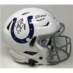 "Peyton Manning Signed Indianapolis Colts Full-Size Authentic On-Field SpeedFlex Helmet Inscribed ""SB"