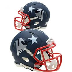 Julian Edelman Signed New England Patriots AMP Speed Mini Helmet (Fanatics Hologram)