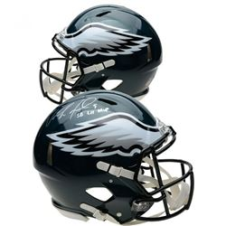 "Nick Foles Signed Philadelphia Eagles Full-Size Authentic On-Field Speed Helmet Inscribed ""SB LII MV"