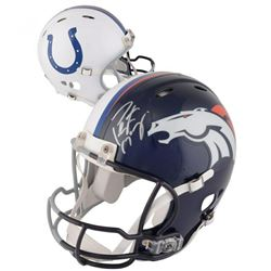 Peyton Manning Signed Indianapolis Colts / Denver Broncos Spilt Full-Size Authentic On-Field Helmet