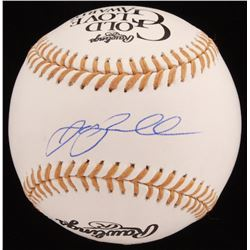 Jeff Bagwell Signed Gold Glove Award Baseball (JSA COA)