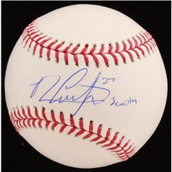 Michael Conforto Signed OML Baseball with Inscription (JSA COA)