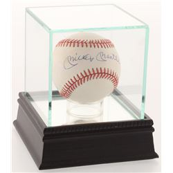 Mickey Mantle Signed OAL Baseball with Display Case (SGC Hologram)