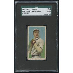 1909-11 T206 #309 Christy Mathewson / White Cap - Sweet Caporal (SGC 2)