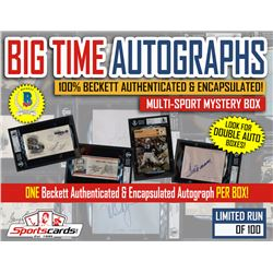 """""""BIG TIME AUTOGRAPHS"""" Multi-Sport Beckett Authenticated Mystery Box!"""