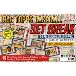 1956 Topps Baseball HIGH GRADE SET BREAK Mystery Box! 2 or 3 PSA GRADED Cards Per Box!