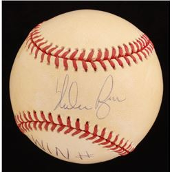 "Nolan Ryan Signed Game-Used OAL Baseball Inscribed ""Win #322"" (Merrill LOA)"