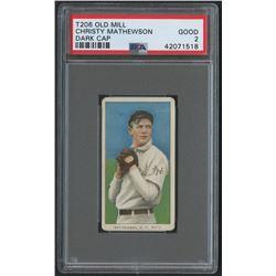 1909-11 T206 #309 Christy Mathewson / Dark Cap - Old Mill (PSA 2)