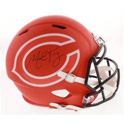 Mitchell Trubisky Signed Chicago Bears AMP Alternate Full-Size Speed Helmet (Fanatics Hologram)