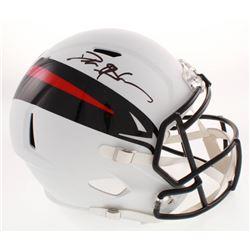 Deion Sanders Signed Atlanta Falcons AMP Alternate Full-Size Speed Helmet (Schwartz COA)