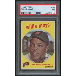 1959 Topps #50 Willie Mays (PSA 7)