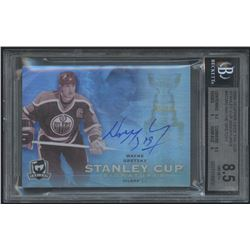 2008-09 The Cup Stanley Cup Signatures #SCSWG Wayne Gretzky (BGS 8.5)