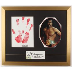 Ken Norton Signed 18x21 Custom Framed Cut Display with LE Hand Print (PSA COA)
