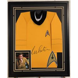 "William Shatner Signed ""Star Trek"" 34x42 Custom Framed Uniform Shirt (JSA COA)"