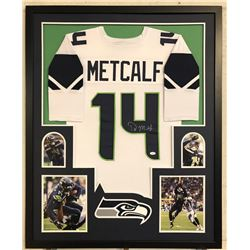D.K. Metcalf Signed 34x42 Custom Framed Jersey (JSA COA)