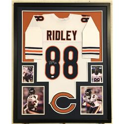 Riley Ridley Signed 34x42 Custom Framed Jersey (JSA COA)