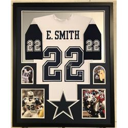Emmitt Smith Signed 34x42 Custom Framed Jersey (Beckett COA  PROVA Hologram)
