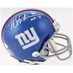 "Michael Strahan Signed New York Giants Mini Helmet Inscribed ""HOF 14"" (JSA COA)"