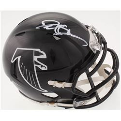 Deion Sanders Signed Atlanta Falcons Speed Mini Helmet (Beckett COA)