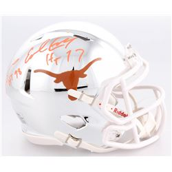"Earl Campbell  Ricky Williams Signed Texas Longhorns Chrome Speed Mini-Helmet Inscribed ""HT 77""  ""HT"