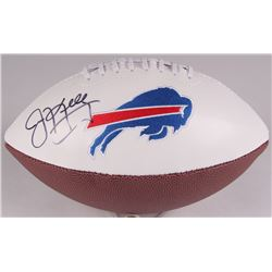 Jim Kelly Signed Buffalo Bills Logo Football (JSA COA)