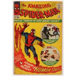 "1964 ""The Amazing Spider-Man"" Issue #8 Marvel Comic Book"