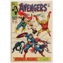 "1968 ""The Avengers"" Issue #58 Marvel Comic Book"