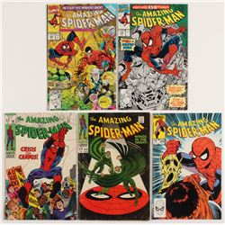 "Lot of (5) 1968-91 ""The Amazing Spider-Man"" Marvel Comic Books with #63, #68, #245, #343,  #350"
