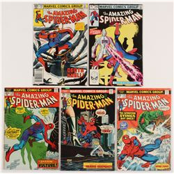 "Lot of (5) 1974-83 ""The Amazing Spider-Man"" Marvel Comic Books with #128, #144, #145, #236,  #242"