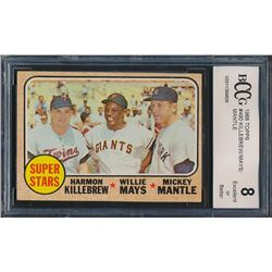 1968 Topps #490 Super Stars / Harmon Killebrew / Willie Mays / Mickey Mantle (BCCG 8)