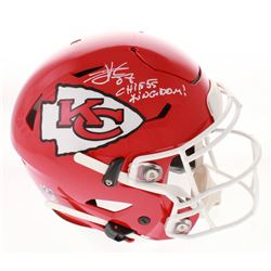 "Travis Kelce Signed Kansas City Chiefs Full-Size Authentic On-Field SpeedFlex Helmet Inscribed ""Chie"
