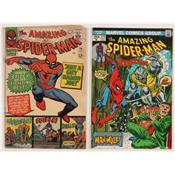 "Lot of (2) 1966 -73 ""The Amazing Spider-Man"" Marvel Comic Books with #38  #124"