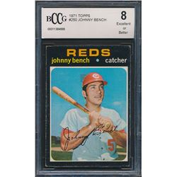 1971 Topps #250 Johnny Bench (BCCG 8)