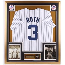 Babe Ruth New York Yankees 32x36 Custom Framed Jersey Display with Replica Ring
