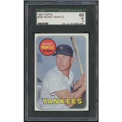 1969 Topps #500 Mickey Mantle (SGC 5)