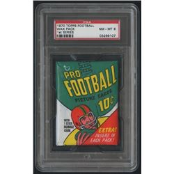 1970 Topps Football Unopened Wax Pack - 1st Series (PSA 8)