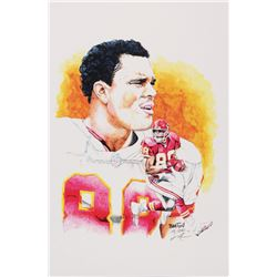Tony Gonzalez - Chiefs - Brian Barton 12x19 Signed Limited Edition Lithograph #/250 (PA COA)