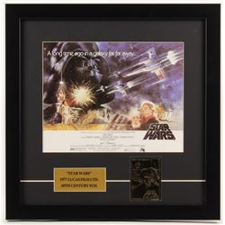 """Star Wars"" 17.5x17.5 Custom Framed Photo Display with 23 KT Gold Card"