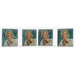 Lot of (4) 1993 Marilyn Monroe Trading Cards Box with (36) Packs Each