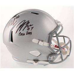 "Joey Bosa  Nick Bosa Signed Ohio State Buckeyes Full-Size Speed Helmet Inscribed ""Bosa Bros"" (Becket"