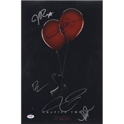 """""""IT Chapter Two"""" 12x18 Photo Cast-Signed By (5) with James McAvoy, Isaiah Mustafa, Andy Muschietti,"""
