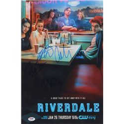 """""""Riverdale"""" 12x18 Photo Cast-Signed By (4) with Lili Reinhart, Cole Sprouse, Madelaine Petsch,  Cami"""